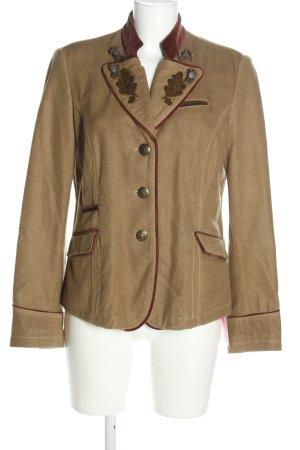 Meindl Couture Chaqueta folclórica marrón elegante