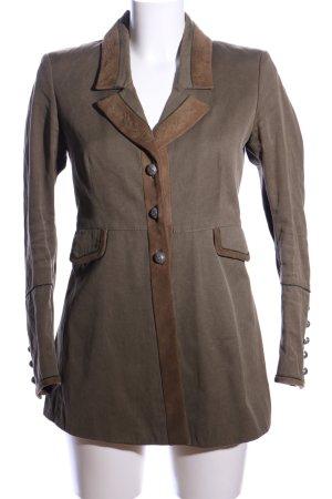 Meindl Leder-Blazer braun-bronzefarben Casual-Look