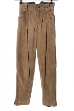 Meindl Pantalón folclórico marrón elegante