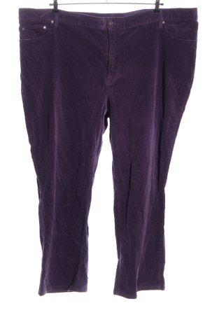 meine grösse Corduroy broek lila casual uitstraling