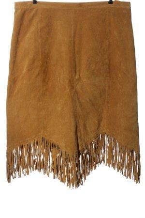 meine grösse Falda con flecos marrón look casual
