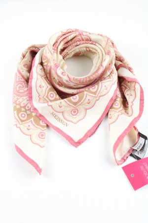Silk Scarf mixed pattern casual look