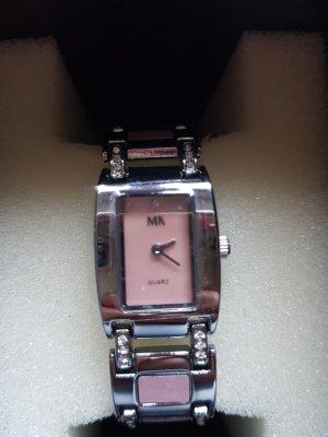 Meister Anker Montre avec bracelet métallique argenté-or rose