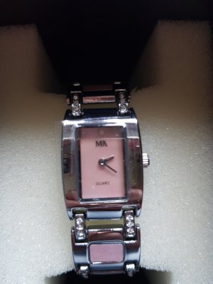Meister Anker Watch With Metal Strap silver-colored-rose-gold-coloured