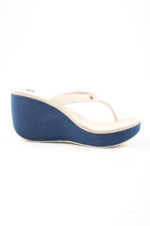 Mel Sandalias Dianette blanco puro-azul look casual