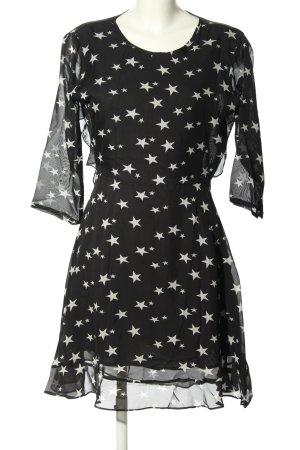 mel ivy Minikleid schwarz grafisches Muster Elegant