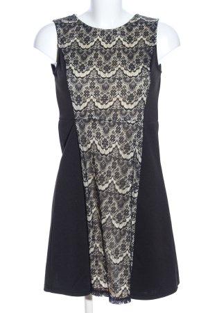 Mela London Minikleid schwarz-wollweiß Business-Look