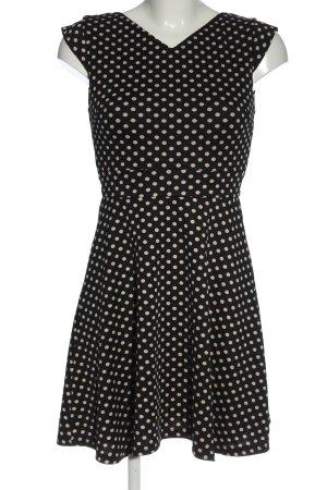 Mela London Minikleid schwarz-wollweiß Allover-Druck Elegant