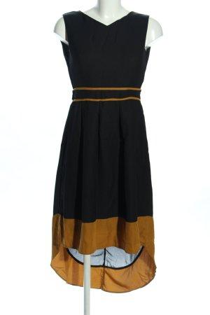 Mela London Robe bas asymétrique noir-orange clair style décontracté
