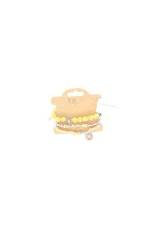 Bracelet jaune-jaune fluo-jaune citron vert-jaune foncé