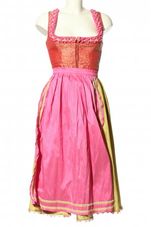 Melega Dirndl pink-grün klassischer Stil