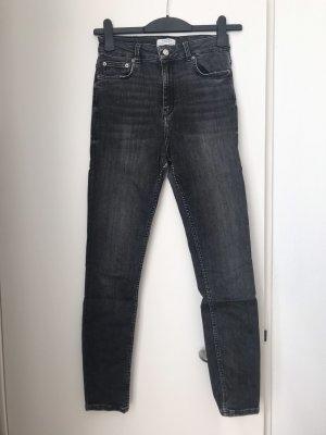 Melierte Skinny High-Waist Jeans