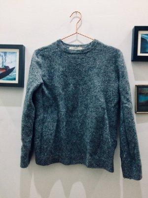 H&M Jersey de lana gris-blanco