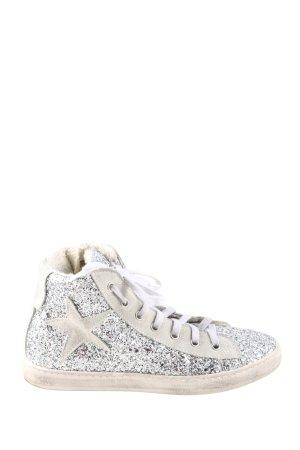 Meline High Top Sneaker silberfarben-hellgrau Casual-Look