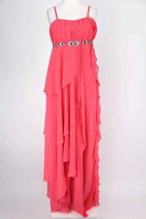 Melis Ballkleid mit Steinchen pink Größe 38