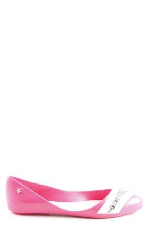 Melissa Ballerinas mit Spitze pink-weiß Casual-Look
