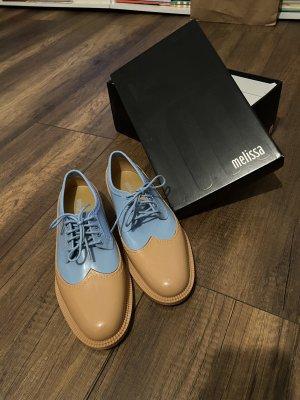 Melissa Zapatos brogue beige-azul celeste