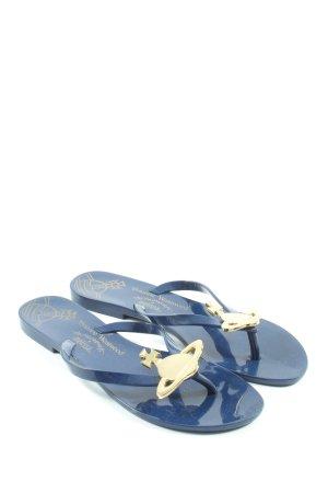 Melissa Flip Flop Sandalen blau Casual-Look