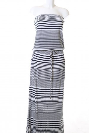 Melissa Odabash Bandeaukleid schwarz-weiß Streifenmuster Casual-Look