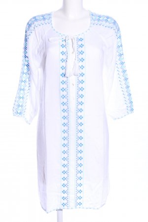 Melissa Odabash Tunikakleid weiß-blau Allover-Druck Casual-Look
