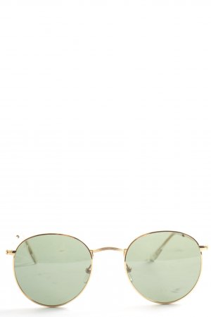Meller Retro Glasses gold-colored-black casual look