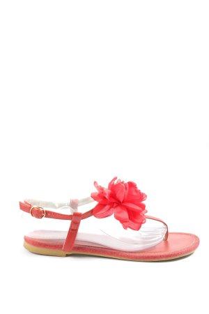 Mellisa Sandały japonki czerwony-różowy W stylu casual