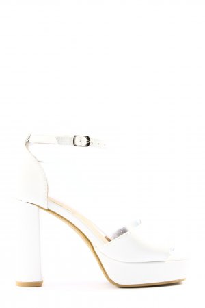 Mellisa Sandalias de tacón con plataforma blanco look casual