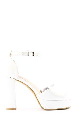 Mellisa Platform High-Heeled Sandal white casual look