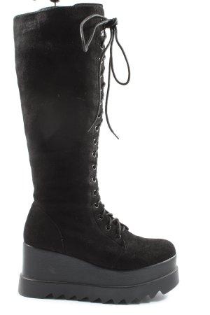 Mellisa Botas con cordones negro look casual