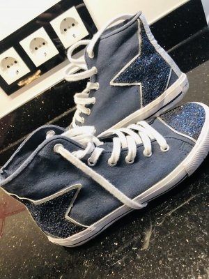 Mello Yellow Sneaker Blau Silber Glitzer Stern Gr 36