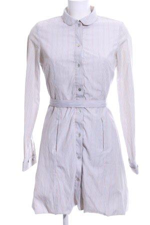 Mellow Peach Hemdblusenkleid weiß-wollweiß Allover-Druck Business-Look