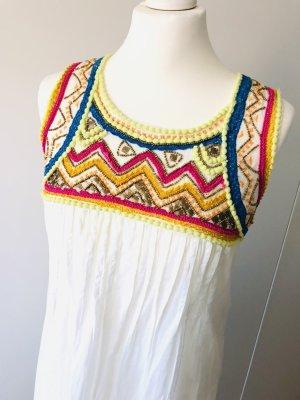 Mellow Peach Kleid Gr s 36 weiß boho Hippie Sommerkleid