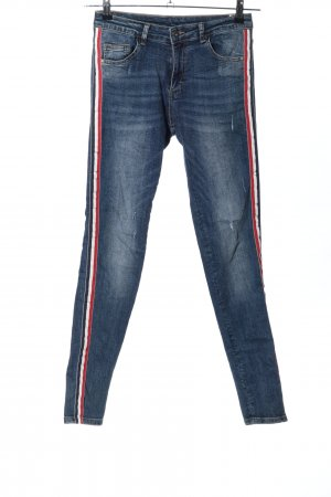 Melly & Co Skinny Jeans Streifenmuster Casual-Look