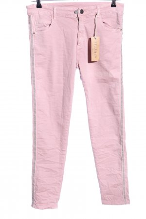 Melly & Co Stretchhose pink Casual-Look