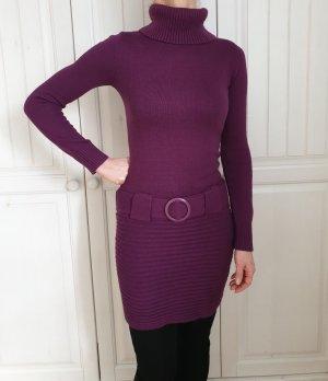Melrose 34 XS Lila Strickkleid Kleid Dress Pullover Pulli Strickjacke cardigan Sweater Hoodie Tunika Jacke Mantel