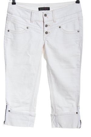 Melrose Jeans 7/8 blanc style décontracté