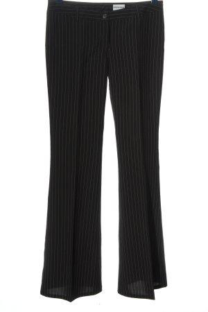 Melrose Anzughose schwarz-weiß Allover-Druck Casual-Look