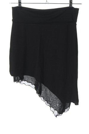 Melrose Falda asimétrica negro look casual
