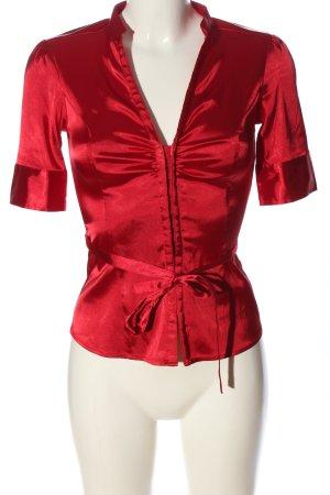 Melrose Glanzende blouse rood zakelijke stijl