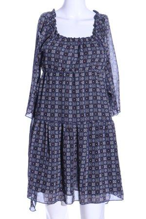 Melrose Blusenkleid blau Allover-Druck Casual-Look