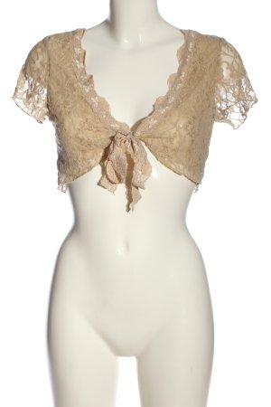Melrose Bolero bronzefarben Webmuster Elegant