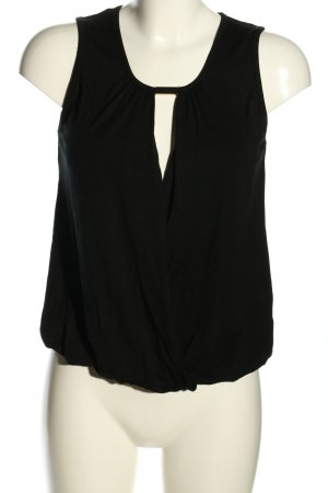 Melrose Cut Out Top black casual look