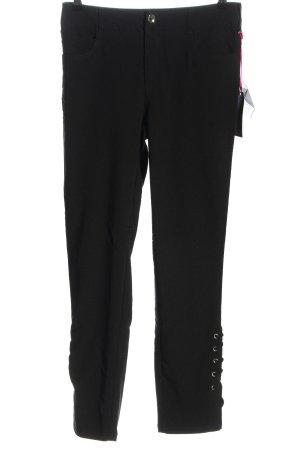 Melrose Pantalon cinq poches noir-blanc moucheté style décontracté