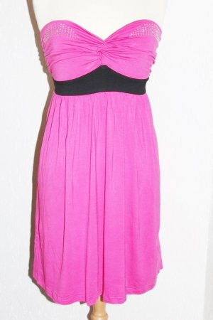 Melrose Jersey Bandeau Kleid 40 Strass Rosa Pink Schwarz