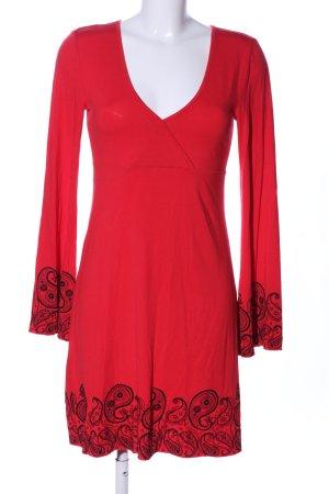 Melrose Jerseykleid rot Motivdruck Business-Look