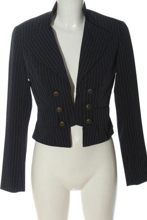 Melrose Korte blazer zwart gestreept patroon casual uitstraling