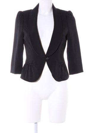 Melrose Korte blazer zwart zakelijke stijl