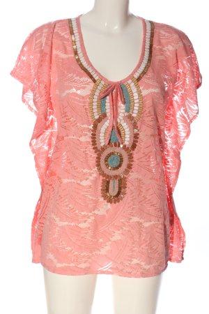 Melrose Kurzarm-Bluse pink Casual-Look
