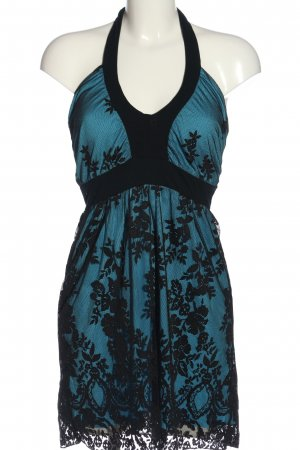 Melrose Minikleid blau-schwarz Blumenmuster Elegant