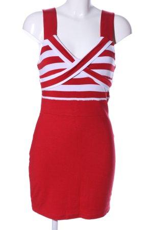 Melrose Minikleid rot-weiß Streifenmuster Casual-Look